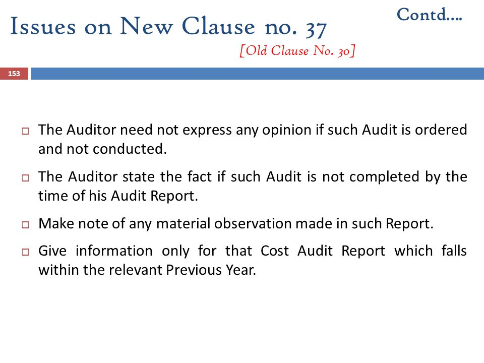 Issues on New Clause no. 37 [Old Clause No. 30]